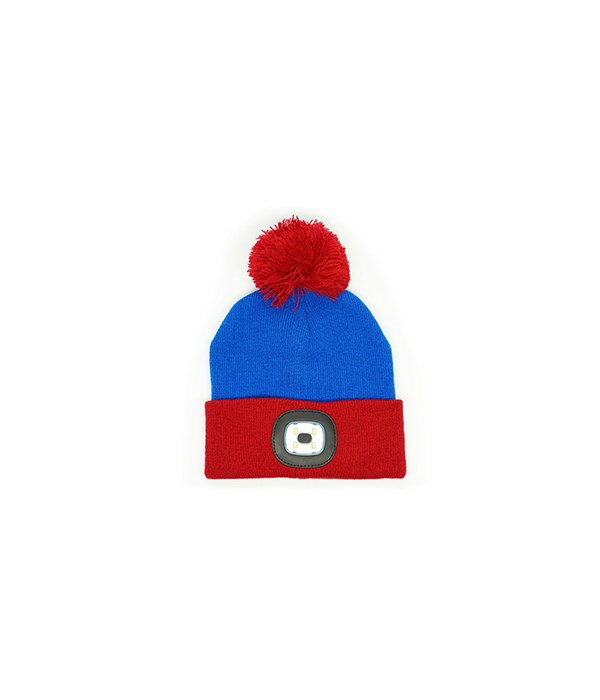 Kids Blue Rechargeable LED Beanie 4PC
