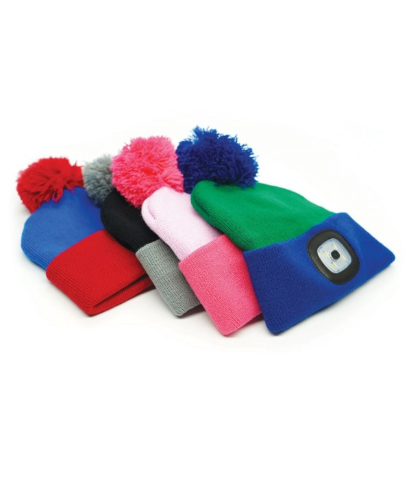 Kids Rechargeable LED Beanie 24PC