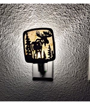 Moose with Trees  Night Light