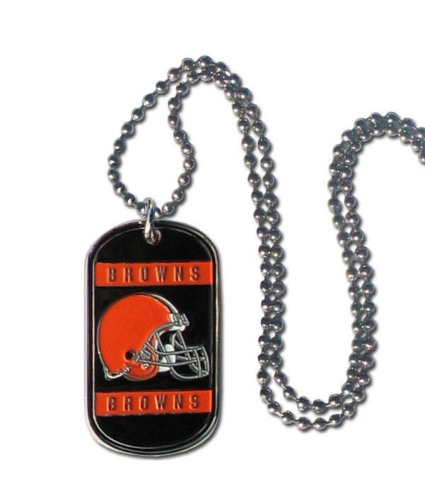 NECK TAG - CLEV BROWNS
