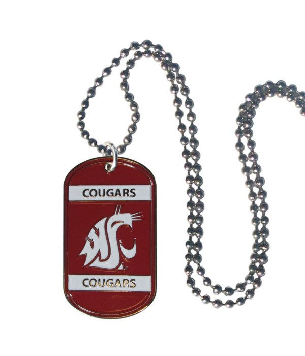 NECK TAG - WASH STATE COUGARS