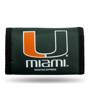 MIA HURRICANES NYLON WALLET