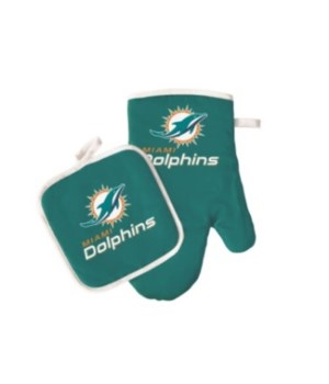 OVEN MITT/POT HOLDER - MIA DOLPHINS