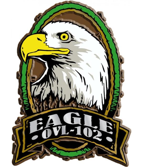 Oval Eagle imprint magnet
