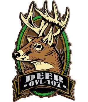 Oval Deer imprint magnet