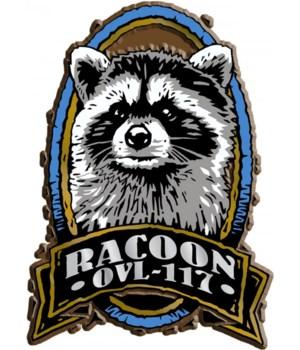 Oval Raccoon imprint magnet