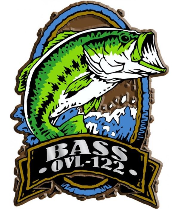 Oval Bass imprint magnet