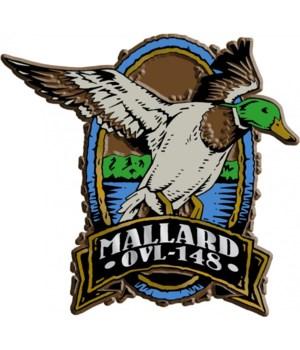 Oval Mallard imprint magnet