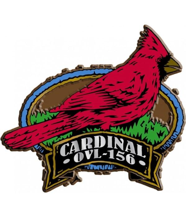 Oval Cardinal imprint magnet