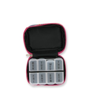 *7  Day Pill Box Texas Rose 4PC