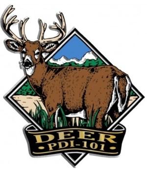 Diamond Buck Deer imprint magnet