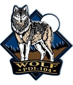 Diamond wolf imprint magnet