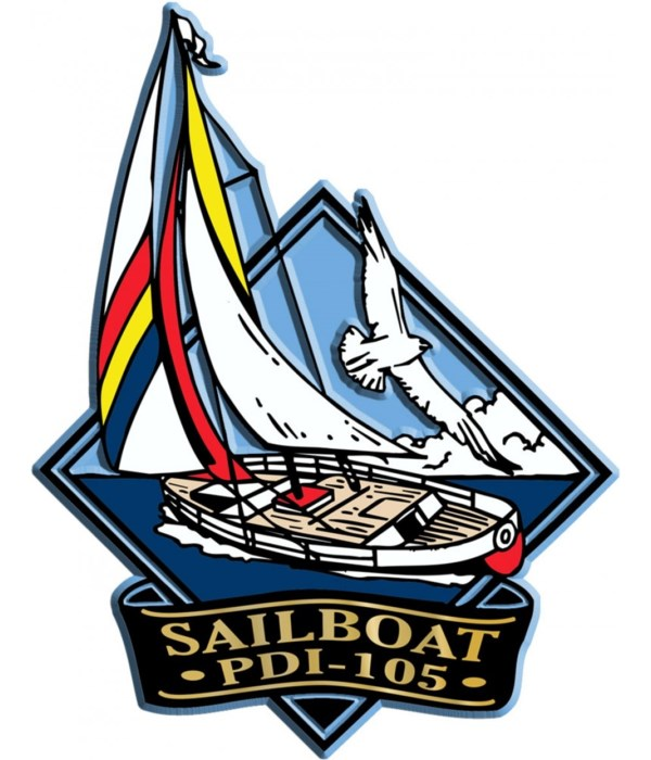 Diamond Sailboat imprint magnet