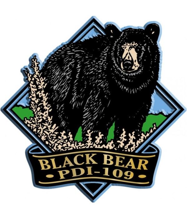Diamond black bear imprint magnet