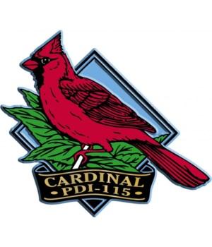 Diamond cardinal imprint magnet