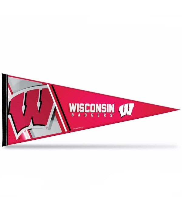 WIS BADGERS 12X30 PENNANT