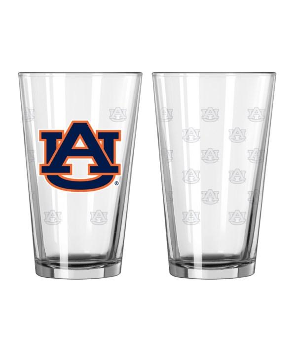 GLASS PINT SET - AUBURN TIGERS