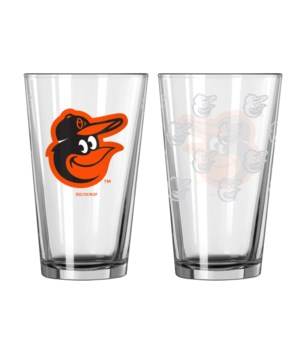 GLASS PINT SET - BALT ORIOLES