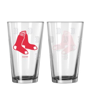 GLASS PINT SET - BOS RED SOX