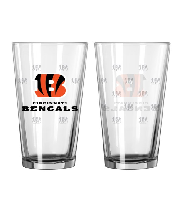 GLASS PINT SET - CINN BENGALS