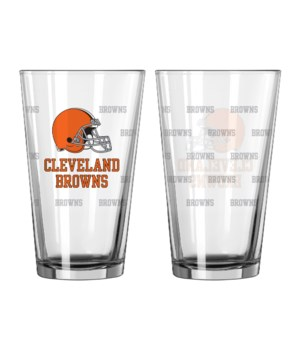 GLASS PINT SET - CLEV BROWNS