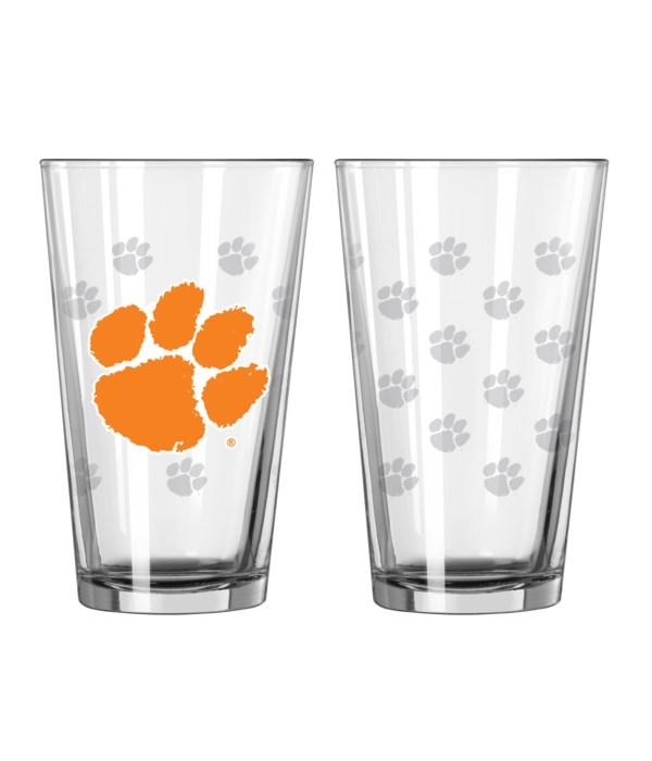 GLASS PINT SET - CLEMSON TIGERS