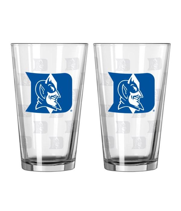 GLASS PINT SET - DUKE BLUE DEVILS