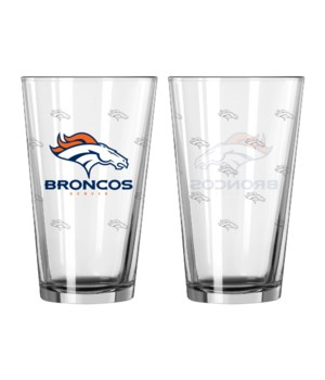 GLASS PINT SET - DEN BRONCOS