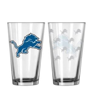 GLASS PINT SET - DET LIONS