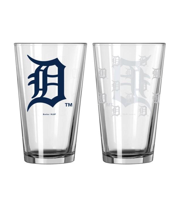 GLASS PINT SET - DET TIGERS