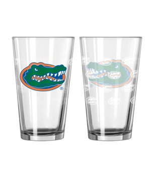 GLASS PINT SET - FLORIDA GATORS
