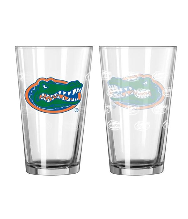 GLASS PINT SET - FLORIDA GATORS