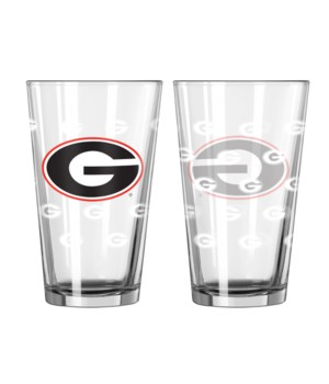 GLASS PINT SET - GA BULLDOGS