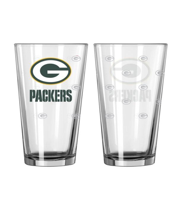 GLASS PINT SET - GB PACKERS