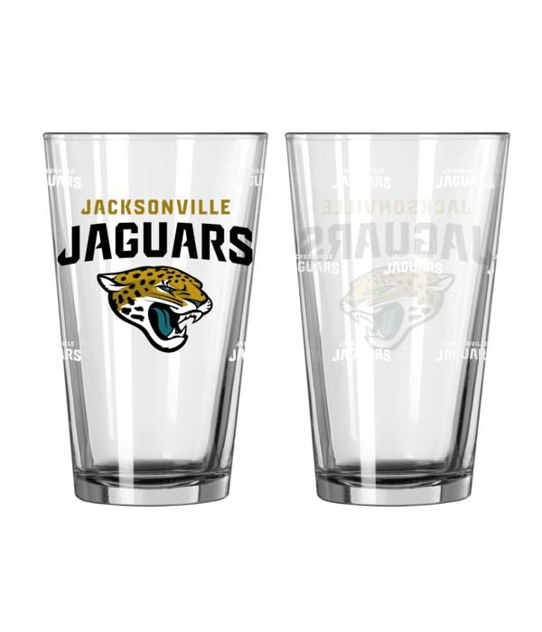 GLASS PINT SET - JAX JAGUARS