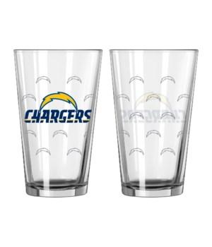 GLASS PINT SET - LA CHARGERS