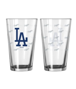 GLASS PINT SET - LA DODGERS