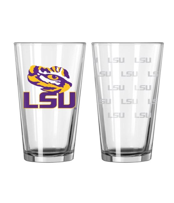 GLASS PINT SET - LSU TIGERS