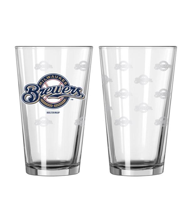 GLASS PINT SET - MIL BREWERS