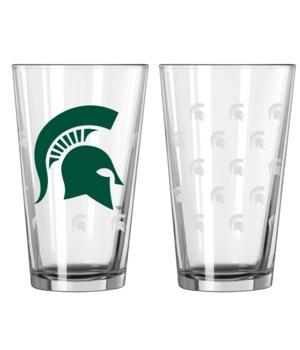 GLASS PINT SET - MICH STATE
