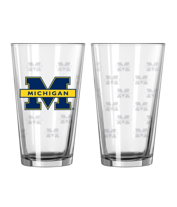 GLASS PINT SET - MICH WOLVERINES