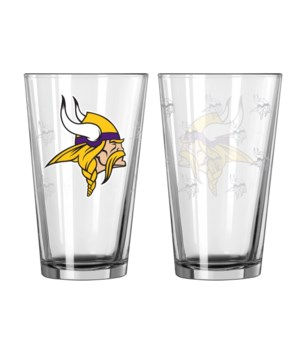 GLASS PINT SET - MINN VIKINGS
