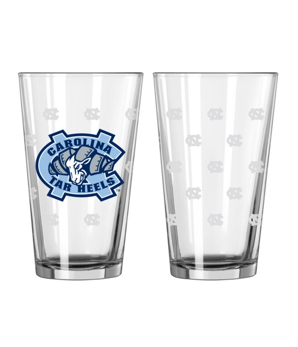 GLASS PINT SET - NC TARHEELS