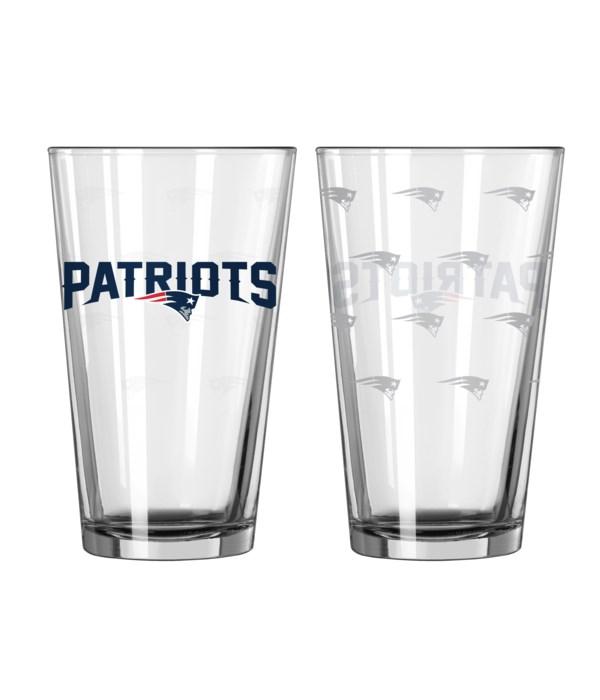 GLASS PINT SET - NE PATRIOTS