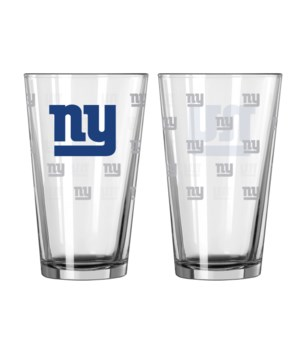 GLASS PINT SET - NY GIANTS