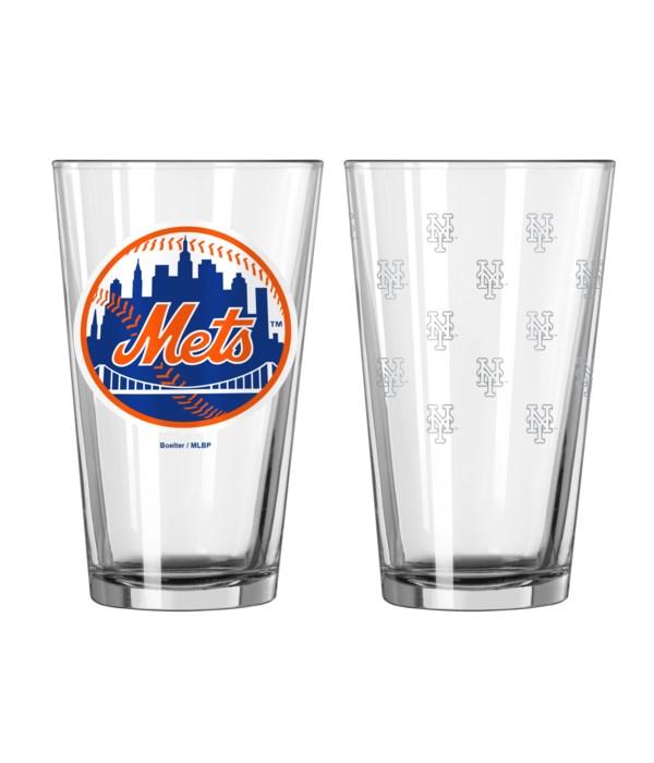 GLASS PINT SET - NY METS