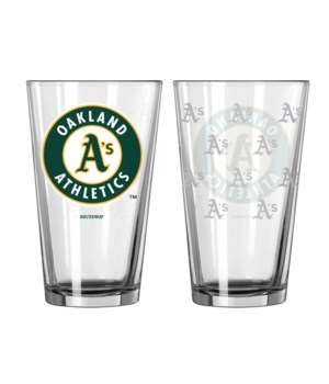 GLASS PINT SET - OAKLAND A'S