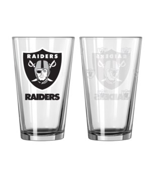 GLASS PINT SET - OAK RAIDERS