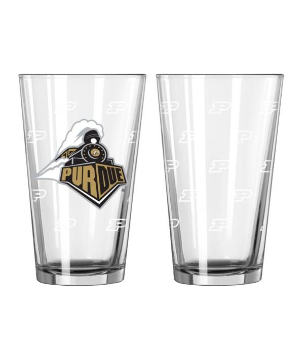 GLASS PINT SET - PURDUE