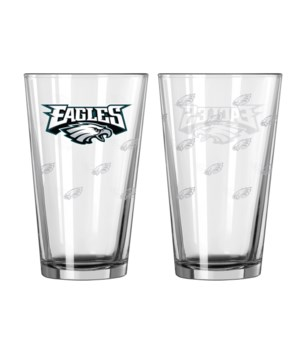 GLASS PINT SET - PHIL EAGLES